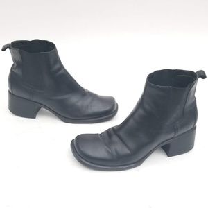 Clarks Heeled Leather Booties - Size 10 M
